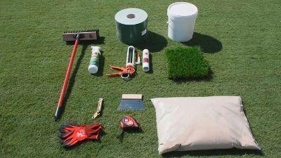 Material necesario para la instalación de césped artificial