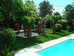 cesped-artificial-piscinas-diseño con árboles